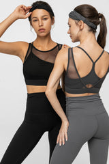 Carbon Black Mesh Bra Top