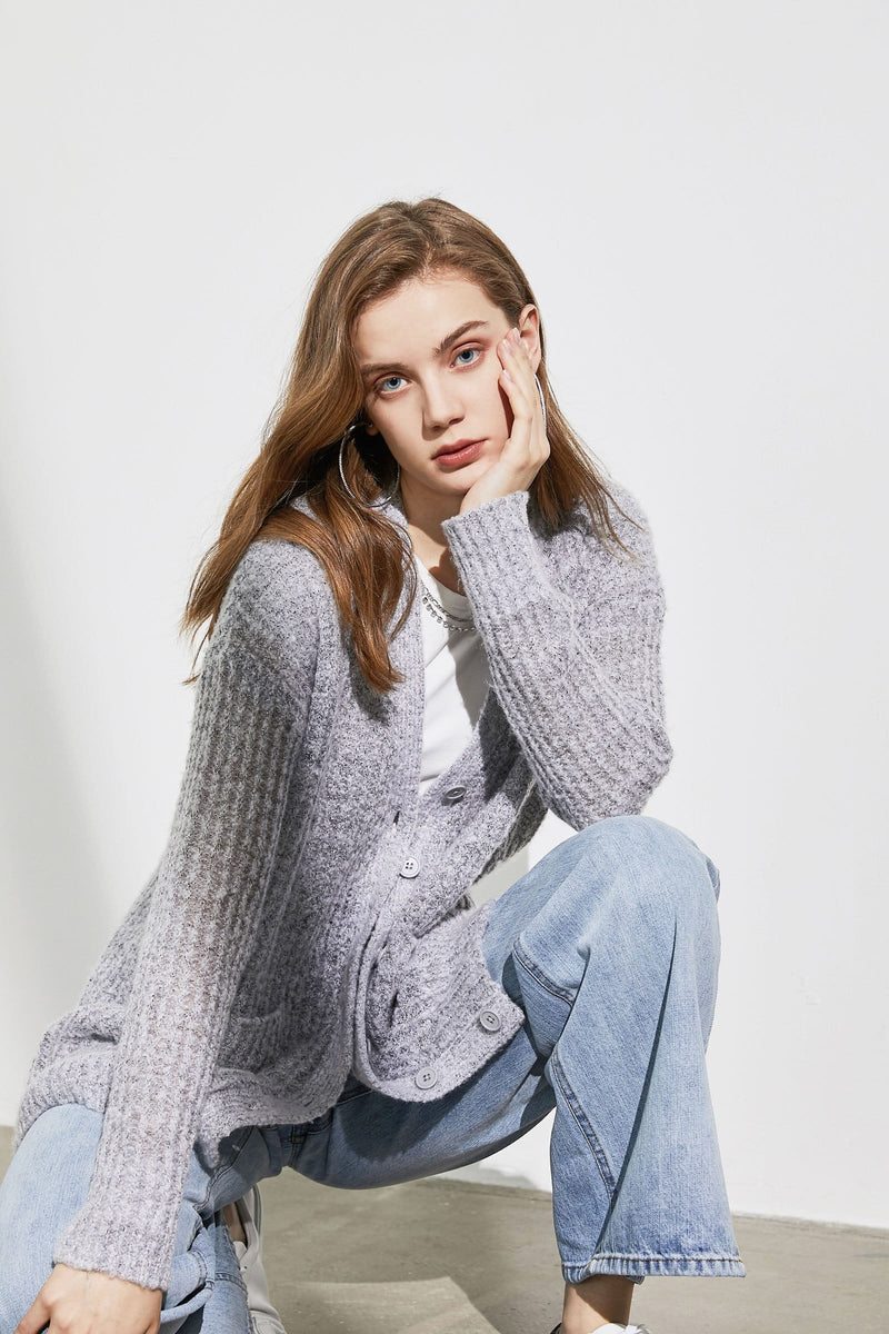 Alpine Dove Fuzzy Cardigan