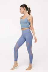 Powdered Blue Active Crop Tank