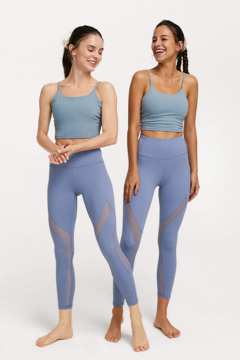 Cinderella Blue Mesh Panel Leggings