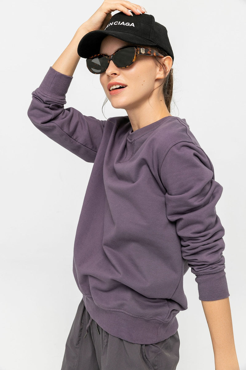 Smoky Violet Oversized Sweatshirt