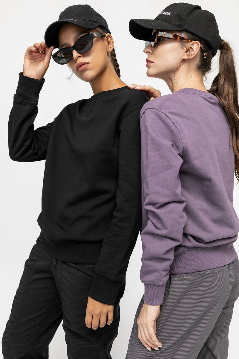 Carbon Black Oversized Sweatshirt