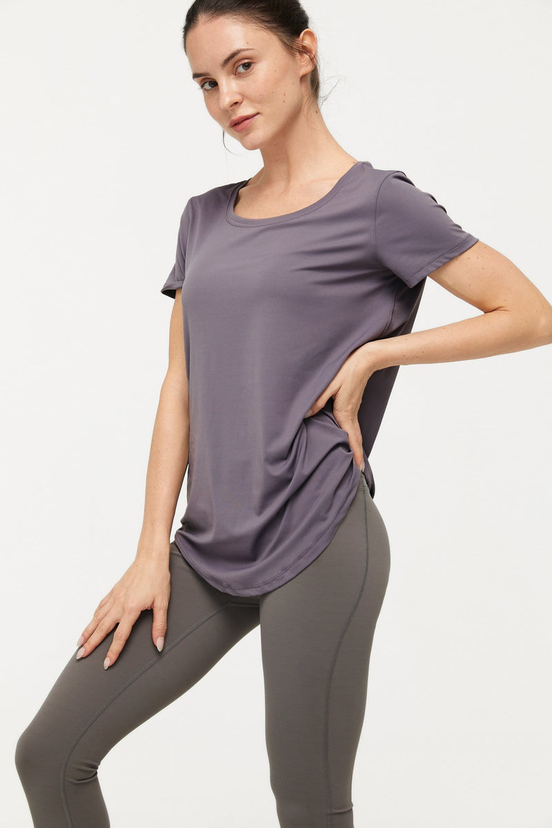 Powdered Violet Active Tee
