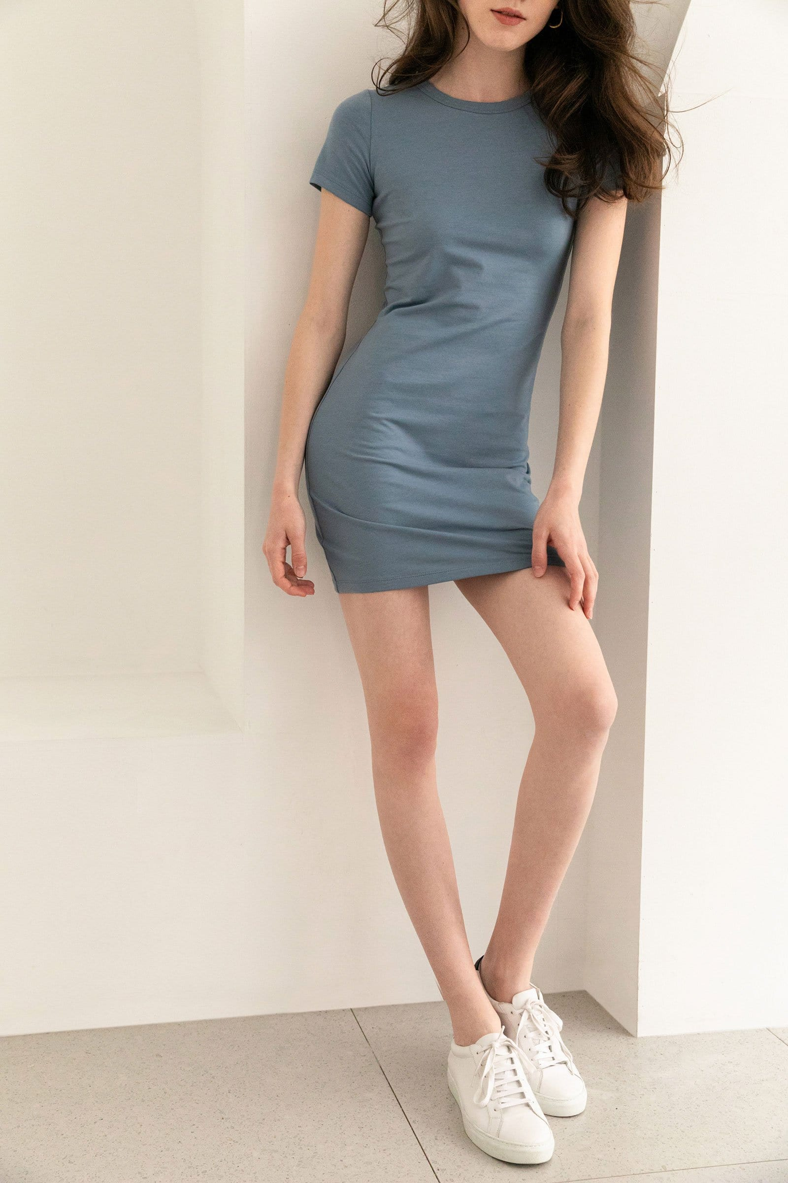 Melanie Blue T-Shirt Dress