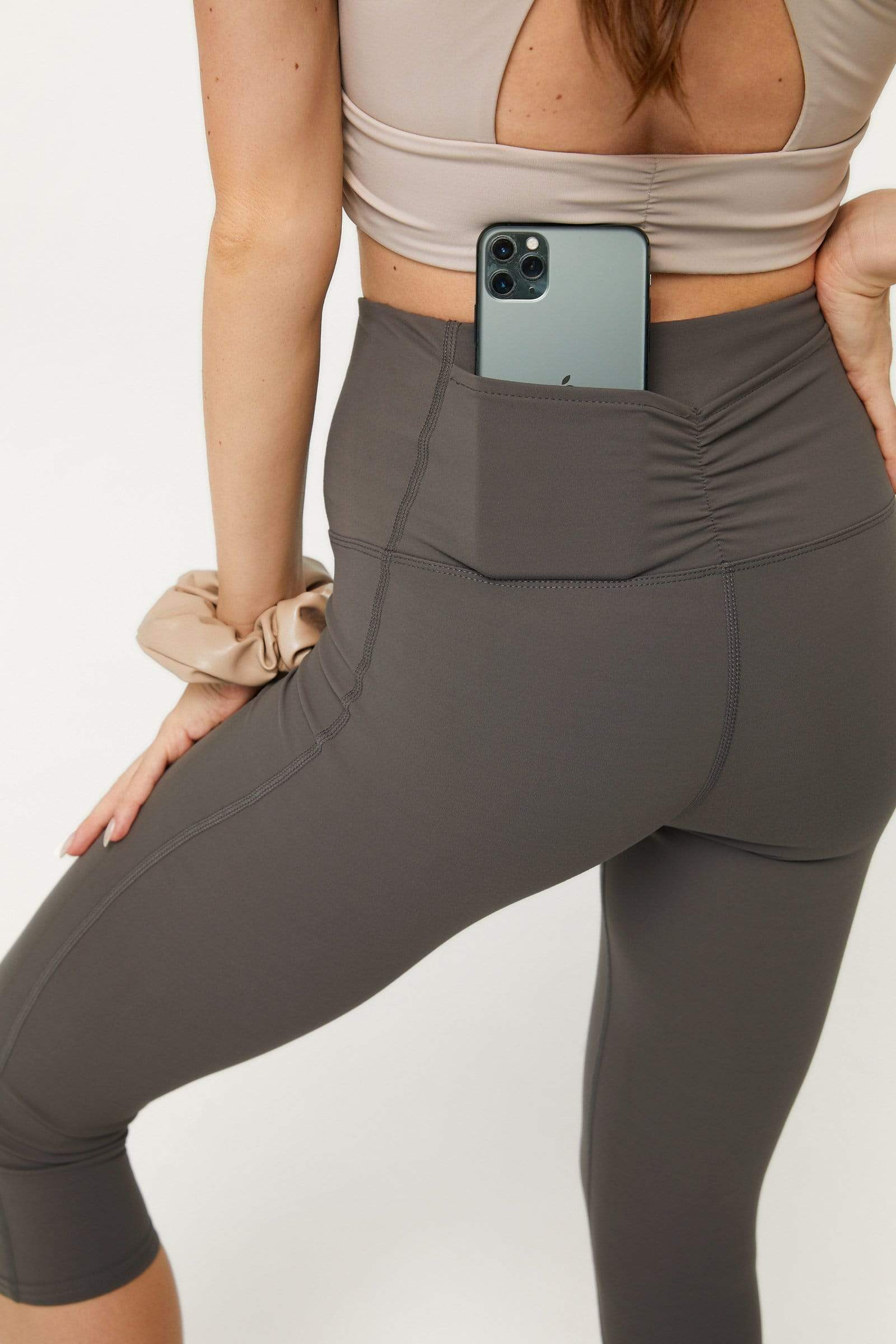 Heather Grey Crop Legging