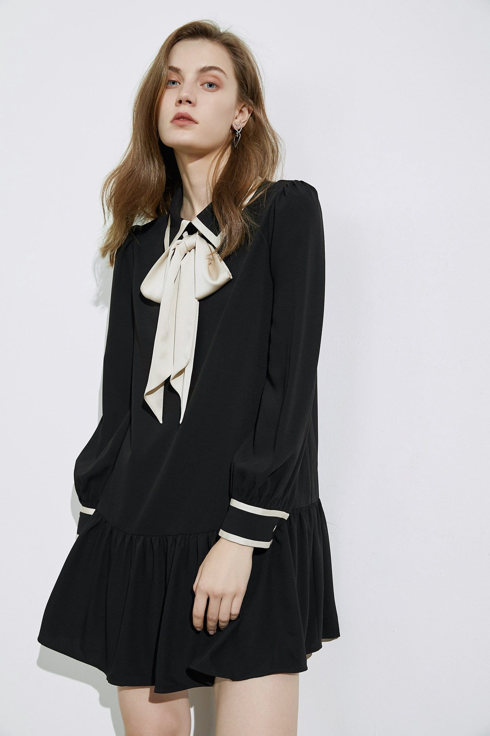 Melissa Black Bow Tie Dress