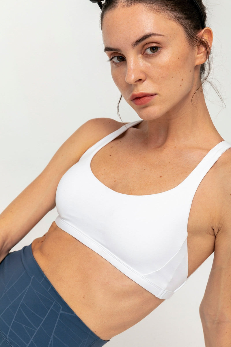 Canyon White Diamond Back Bra Top
