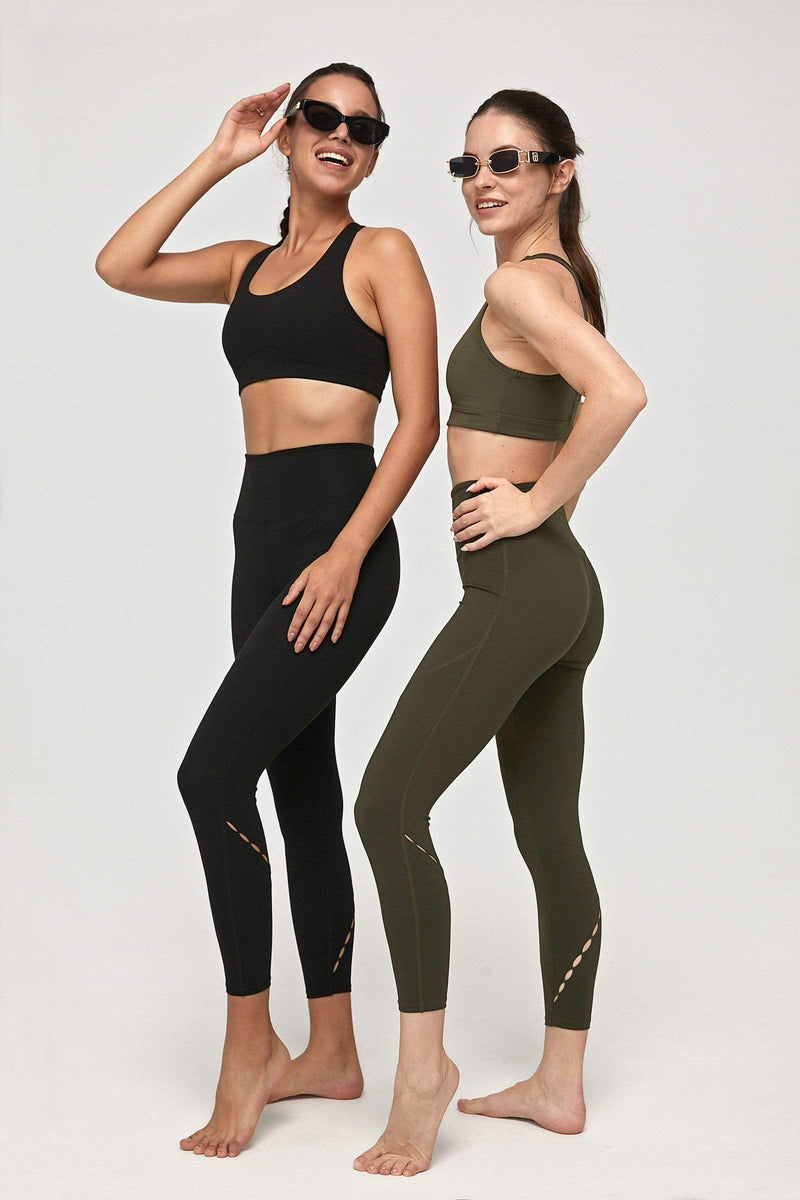 Carbon Black High-Waist Vented Legging