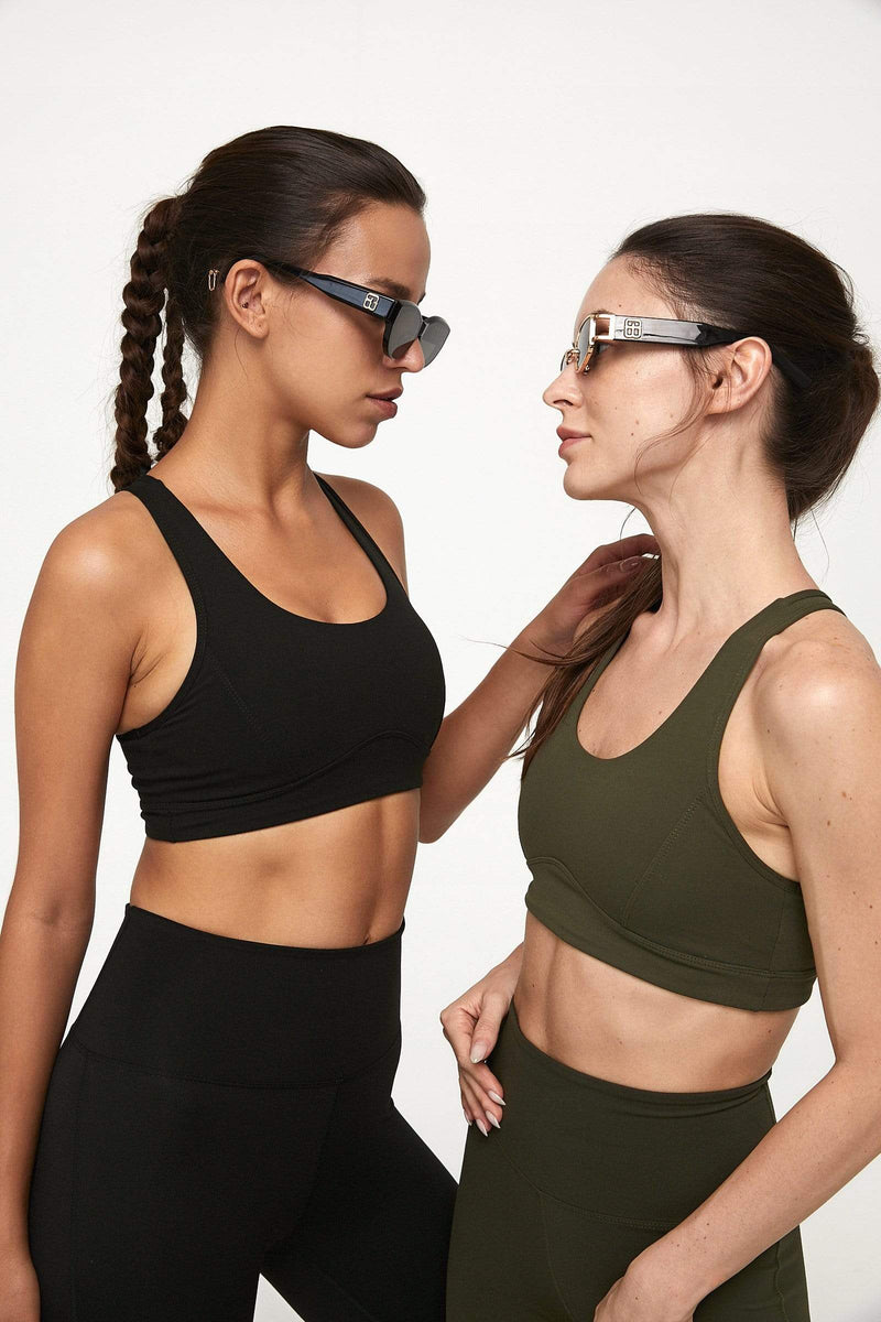 Mountain Olive Vented Racerback Bra Top