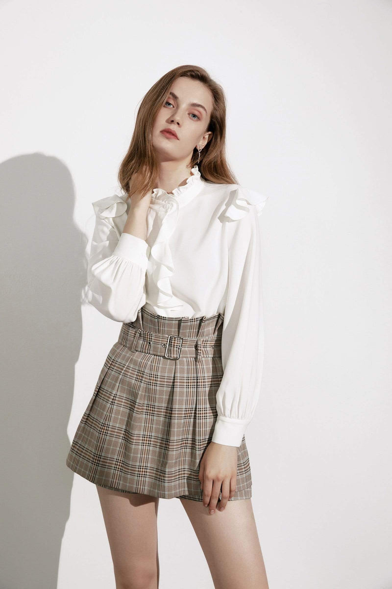 Kiki Plaid Paperbag Skort