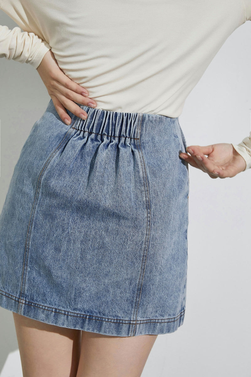Chelsea Blue Denim Skirt