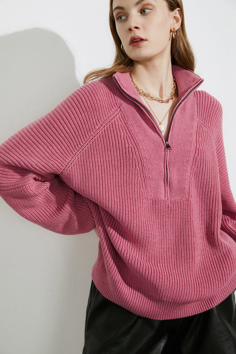 Cozy Flamingo Oversized Sweater