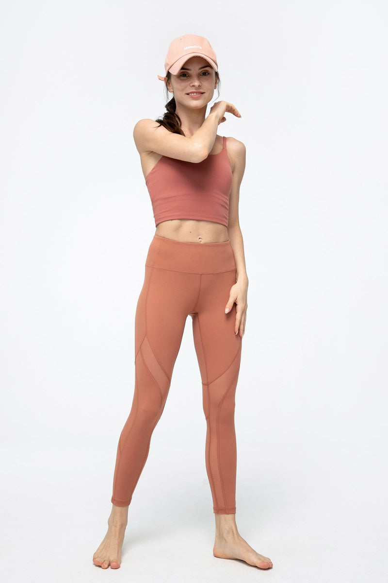 Soft Clay Mesh Panel Leggings