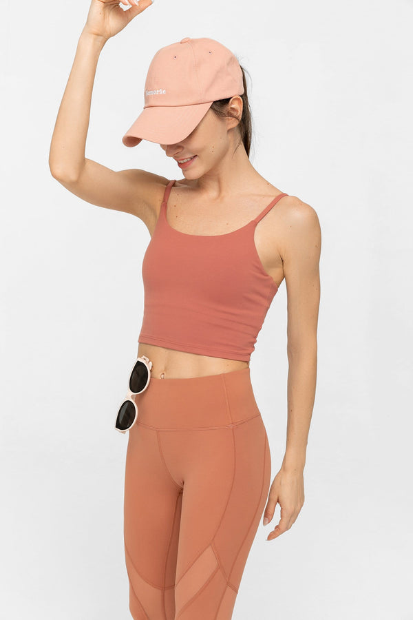 Soft Clay Active Crop Tank