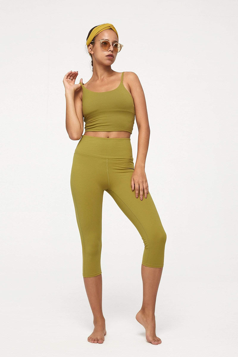 Citrus Lime Crop Legging