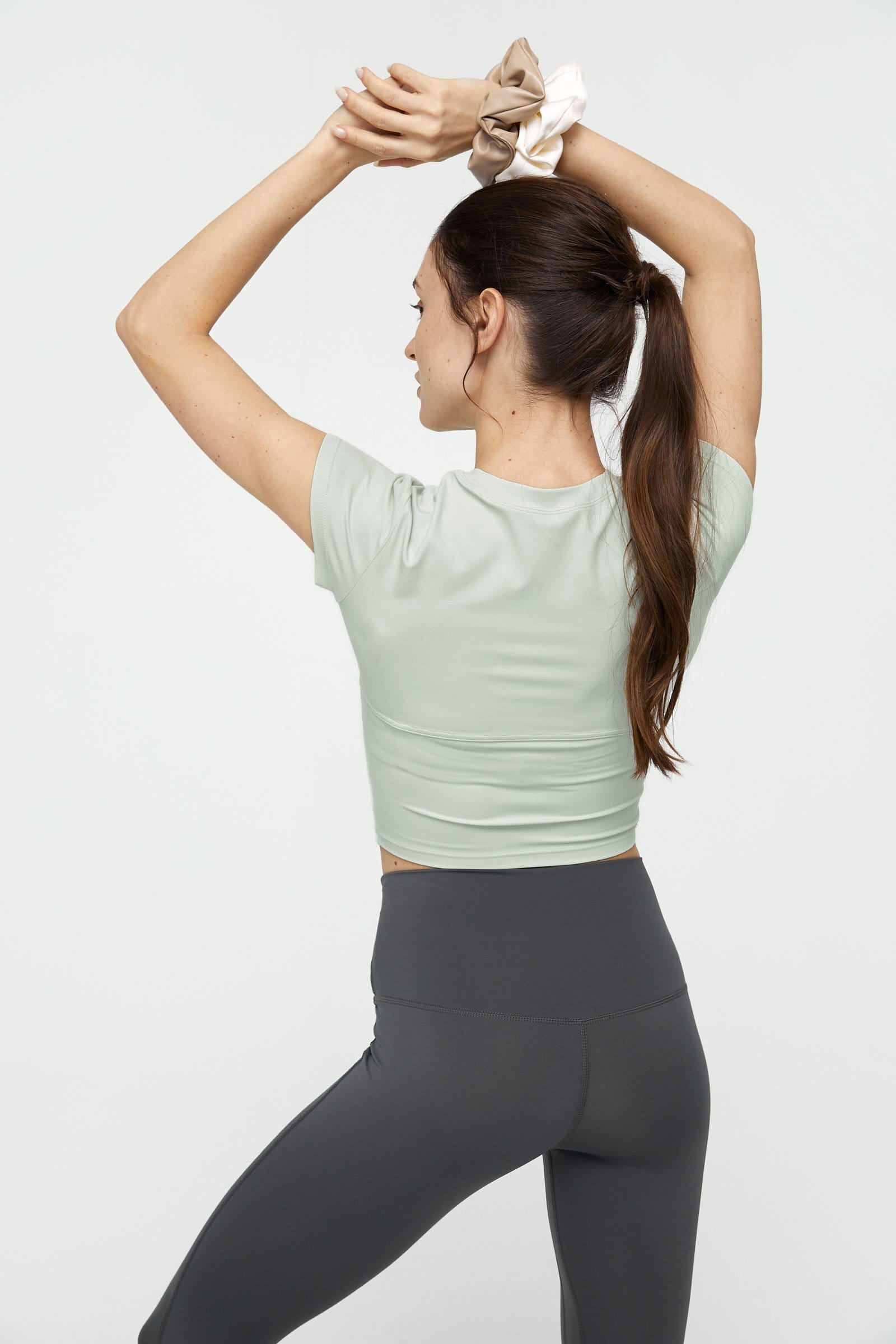 Minty Green Round Neck Performance Top