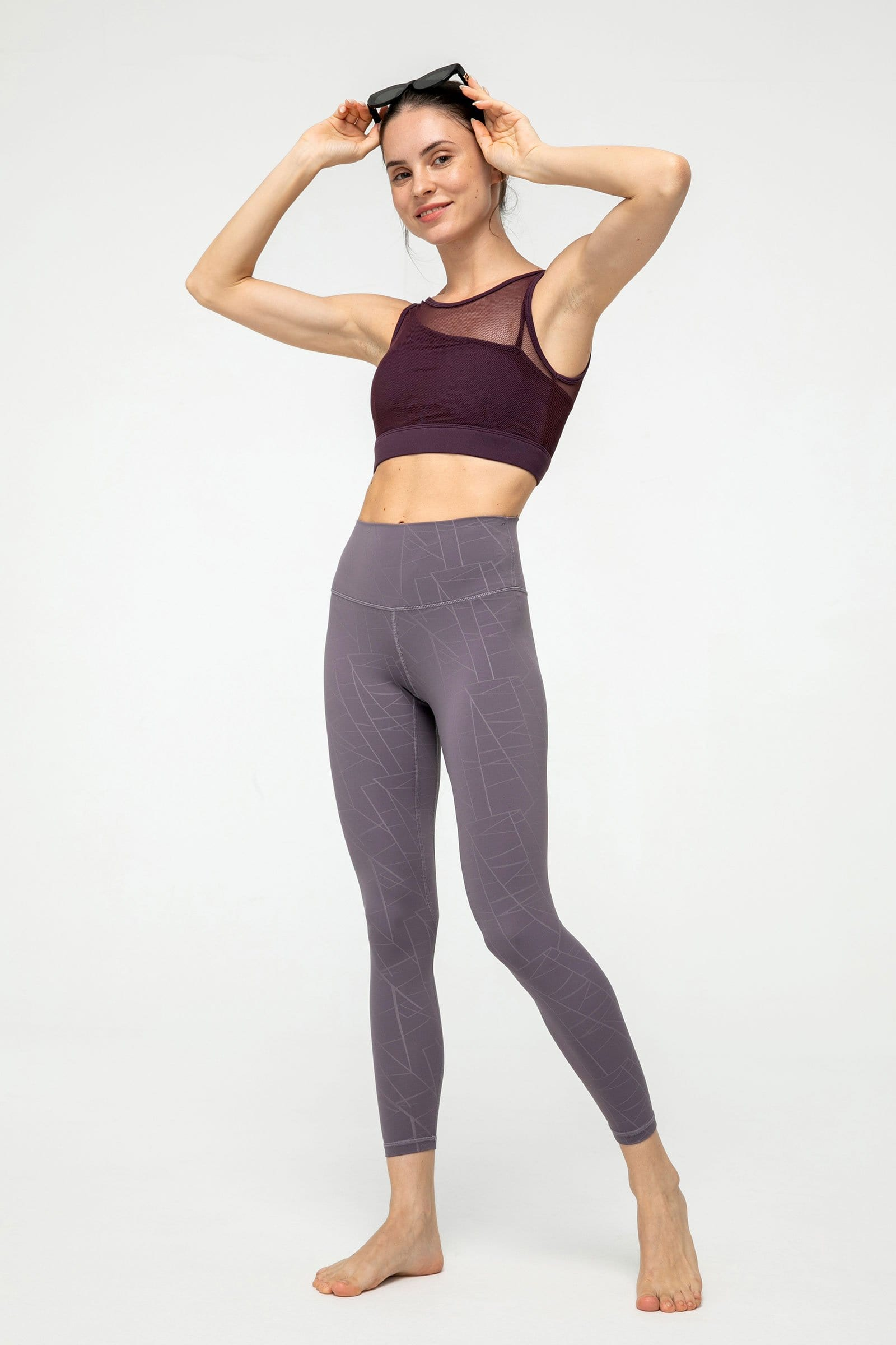 Powdered Violet Mosaic Leggings