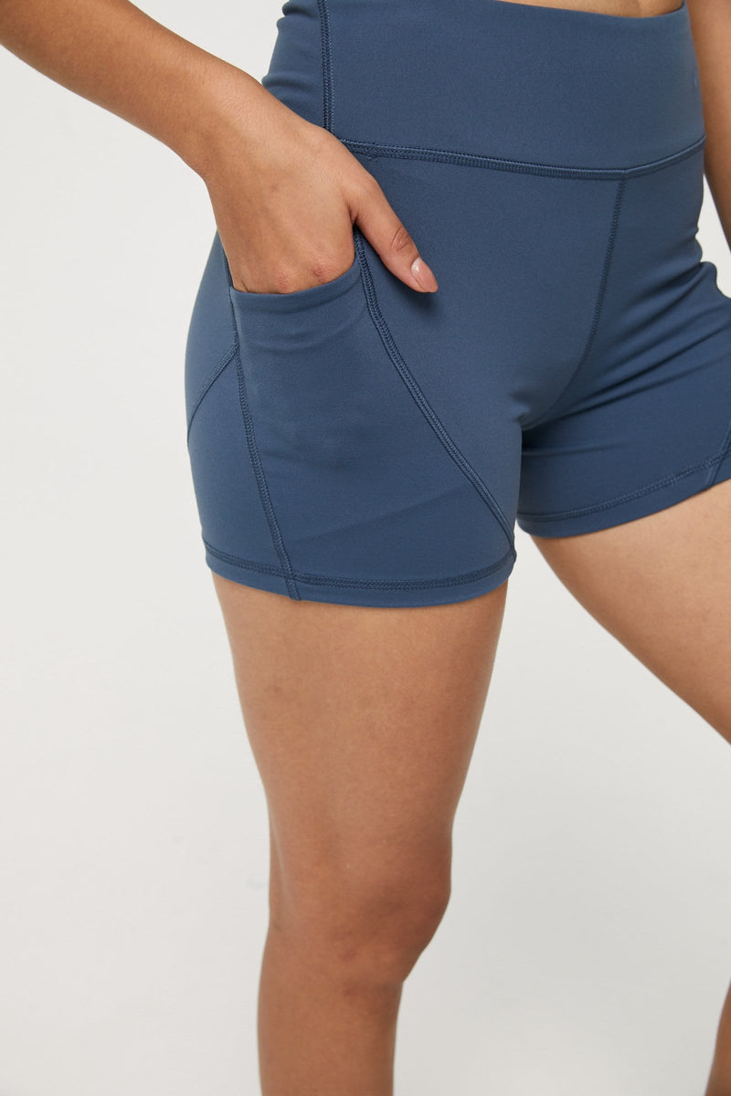 Core Blue Mini Biker Shorts