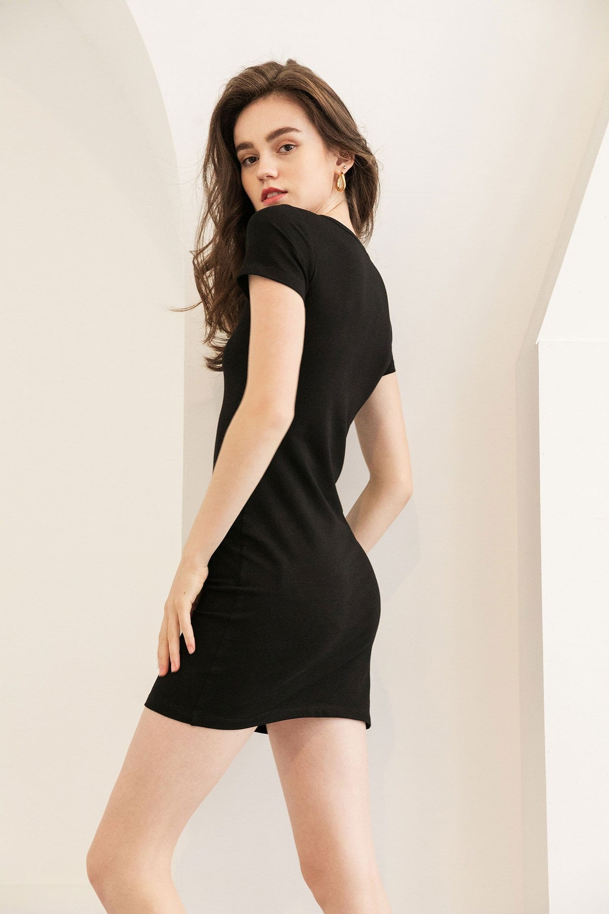 Melanie Black T-Shirt Dress
