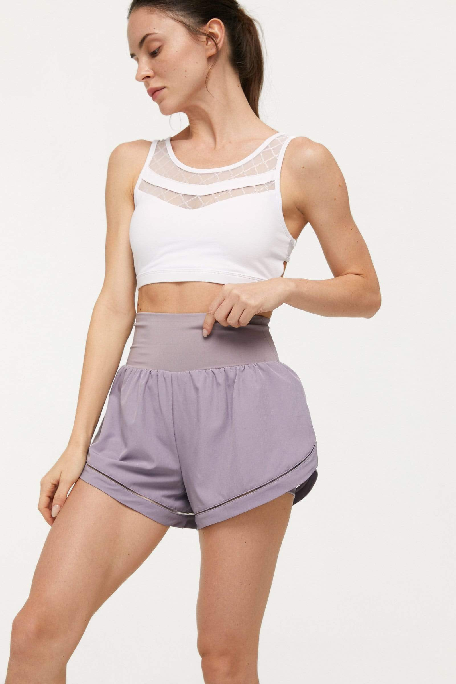 Honeysuckle Lavender Running Shorts