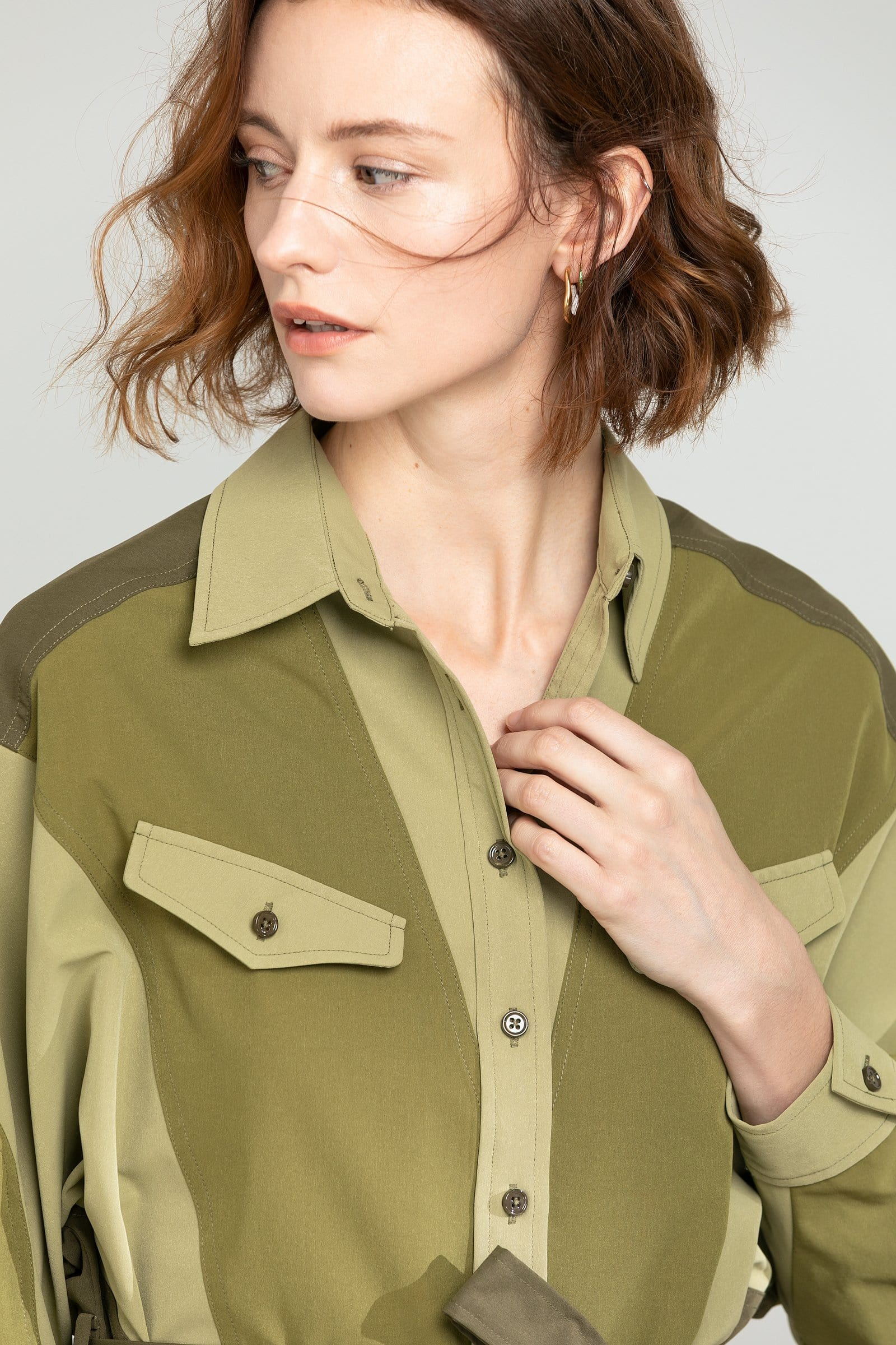 Natty Green Shirt Dress