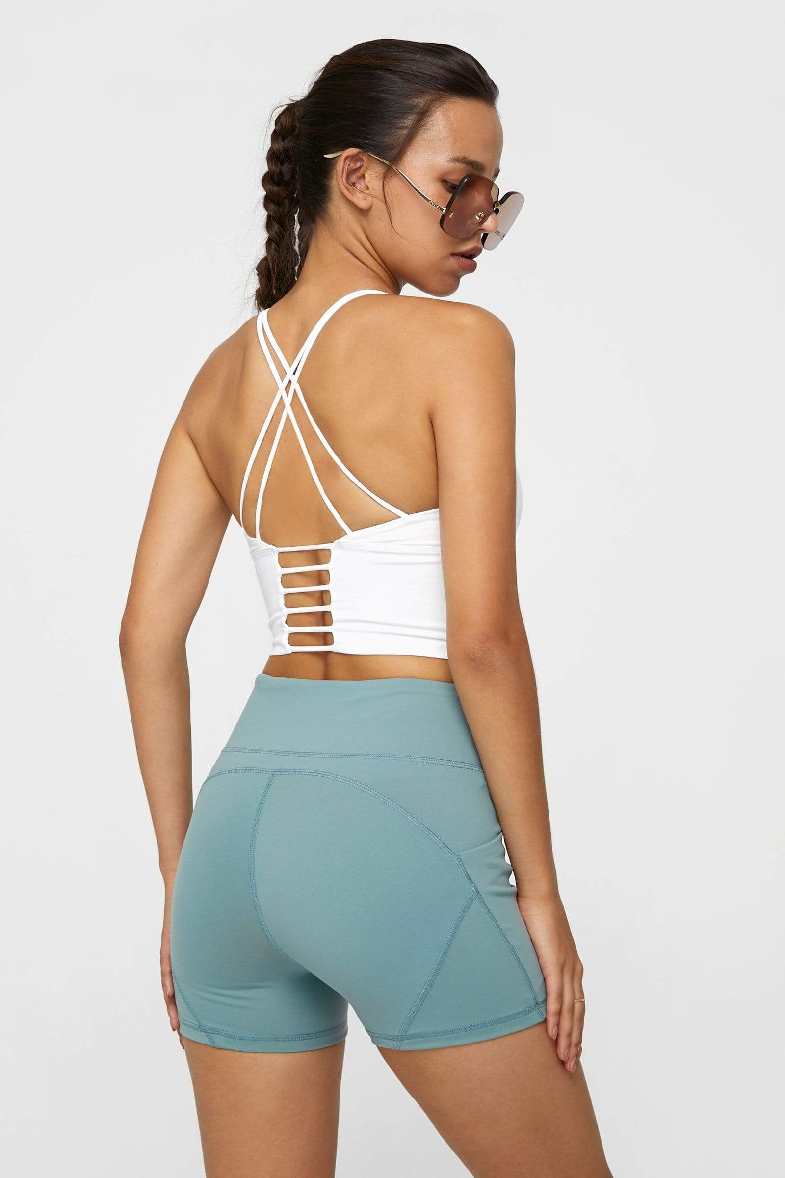 Canyon White Strappy Ladder Back Bra Top