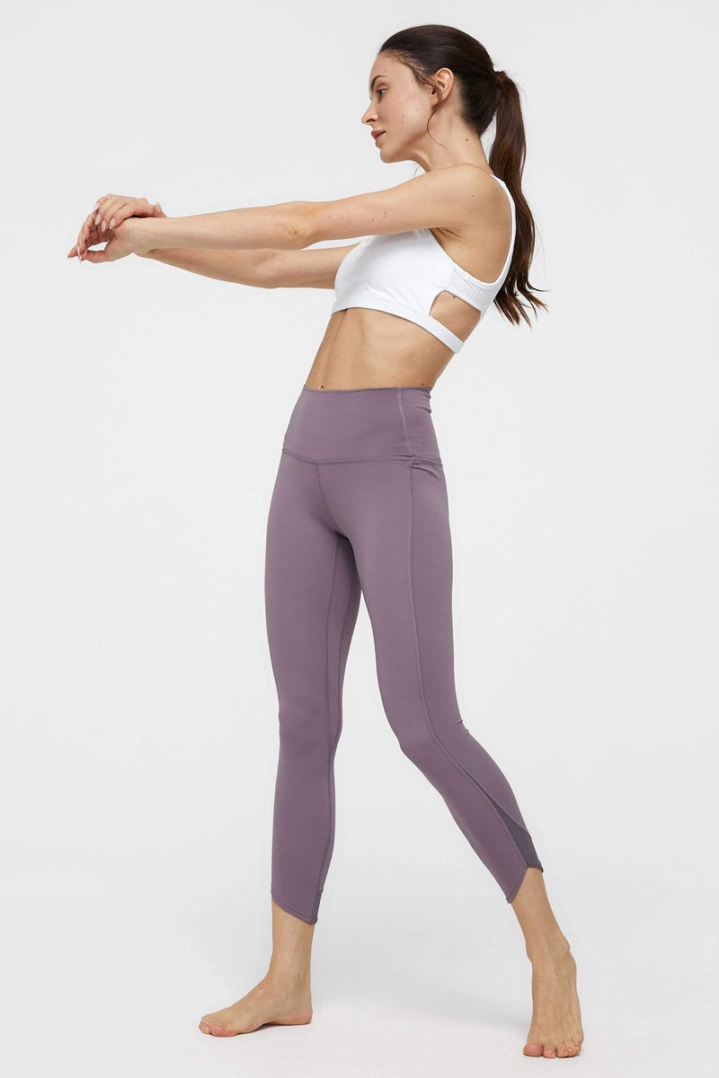 Powdered Violet Capri Legging