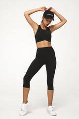 Carbon Black Crop Legging