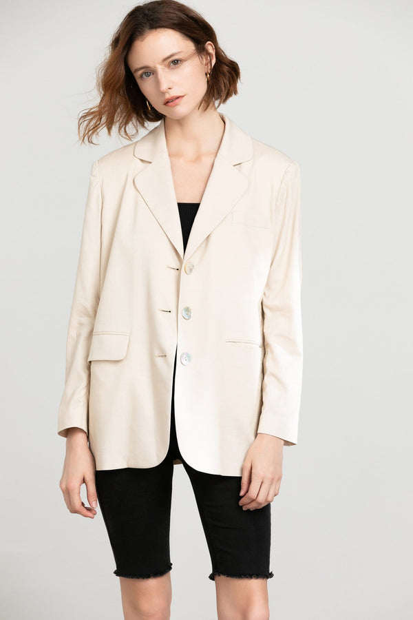 Yvonne Cream Blazer Jacket