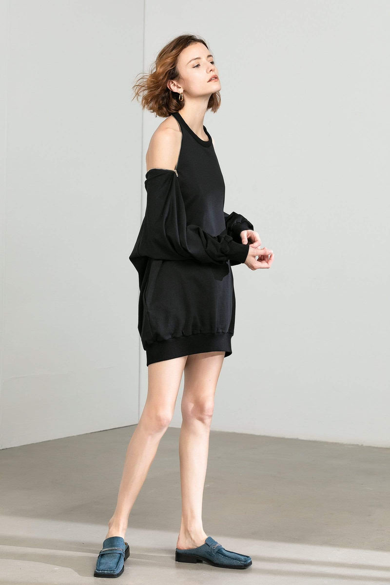 Molly Black Sweater Dress
