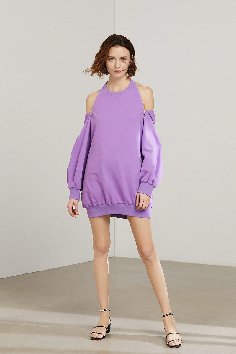 Molly Purple Sweater Dress