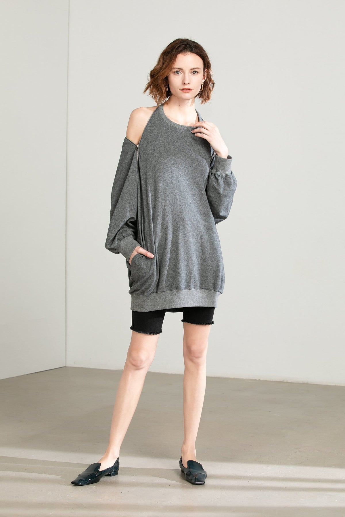 Molly Grey Sweater Dress