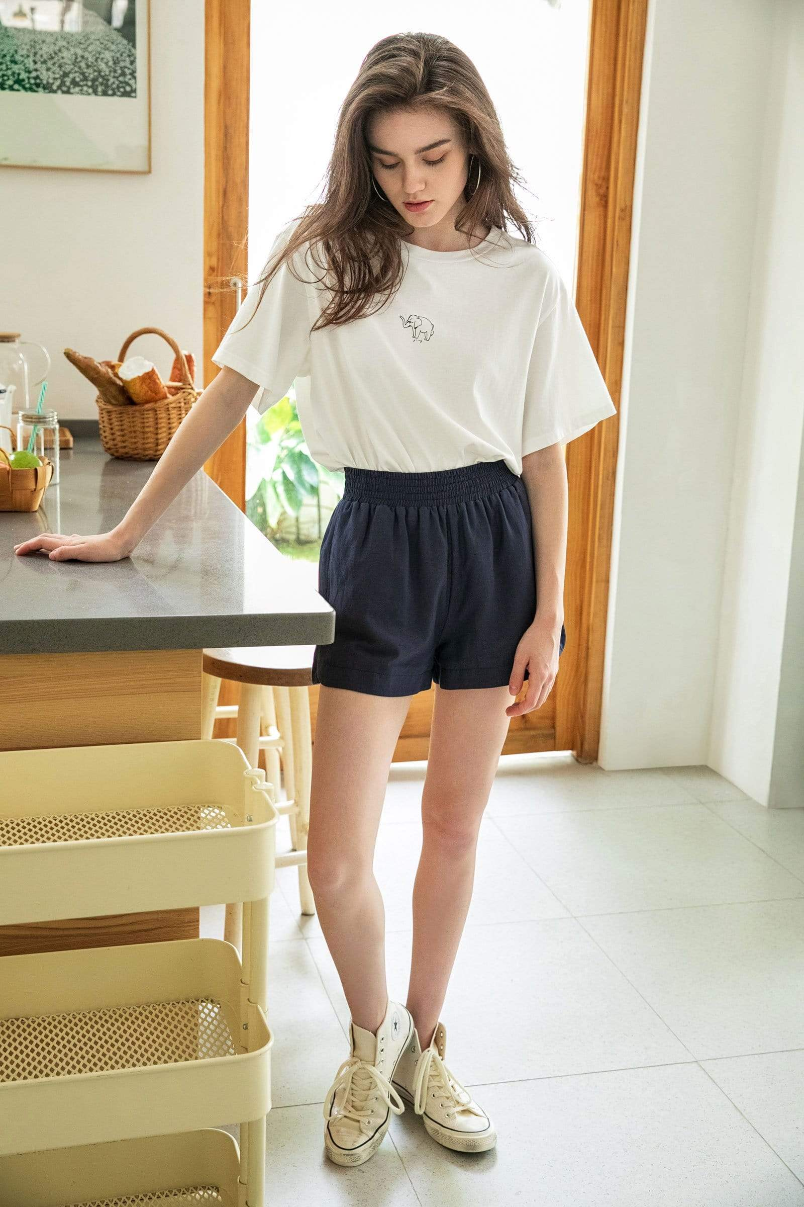Charcoal Grey Lounge Shorts