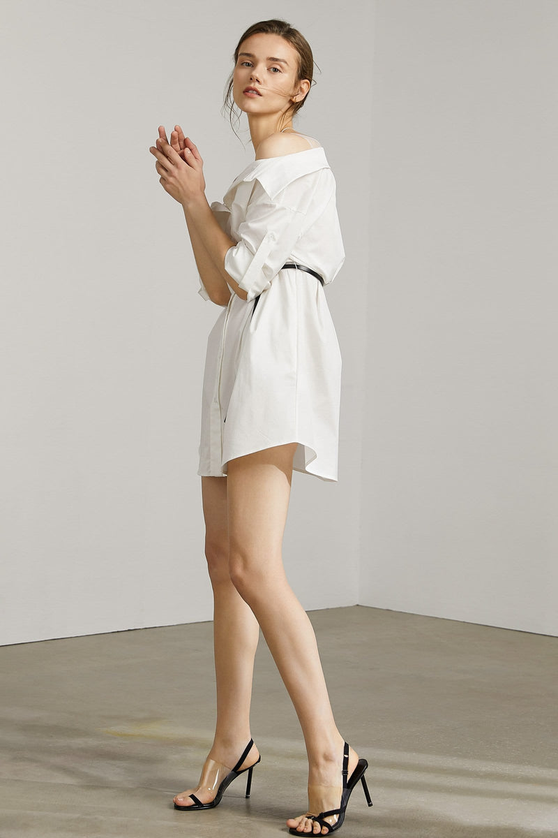 Shilo White Layered Tunic Dress