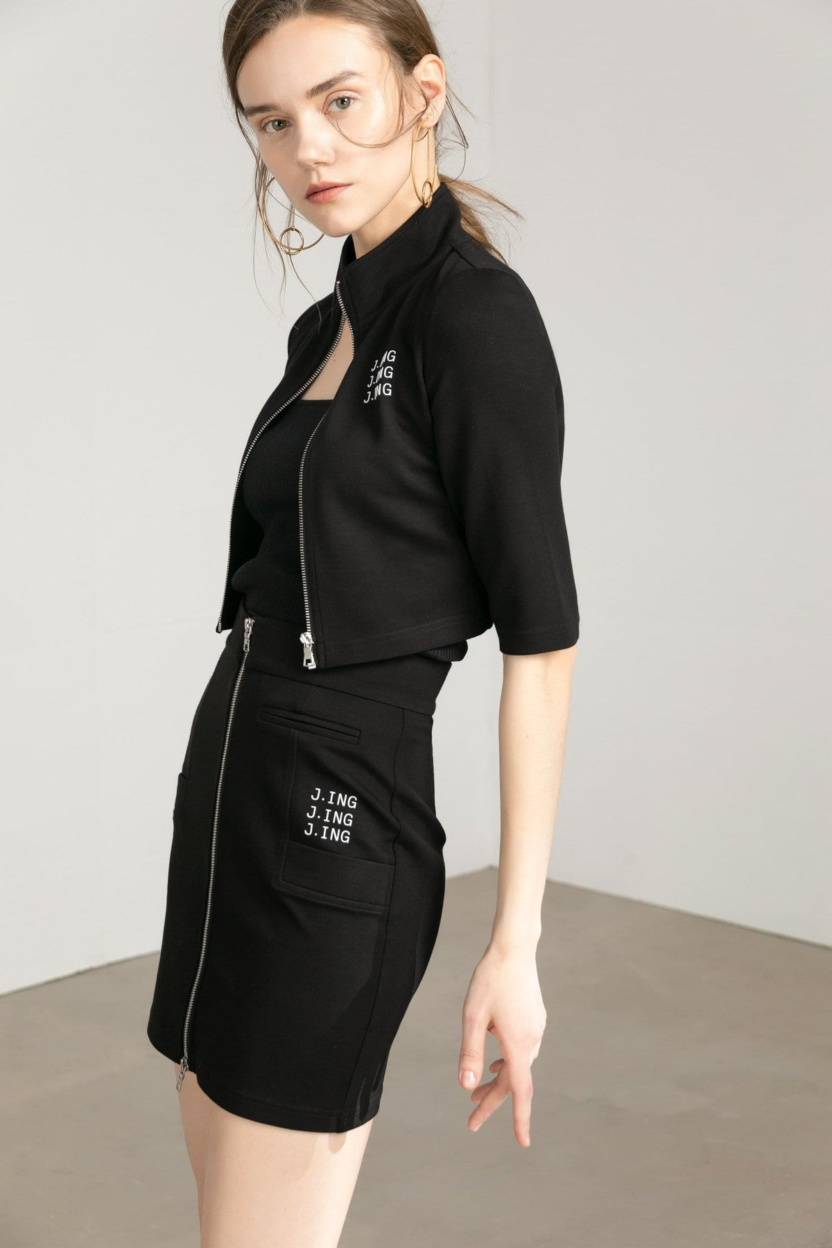 JING Black Activewear Jacket