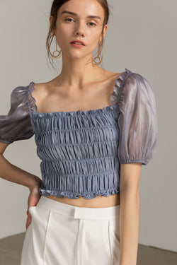 Jasmine Blue Crop Top