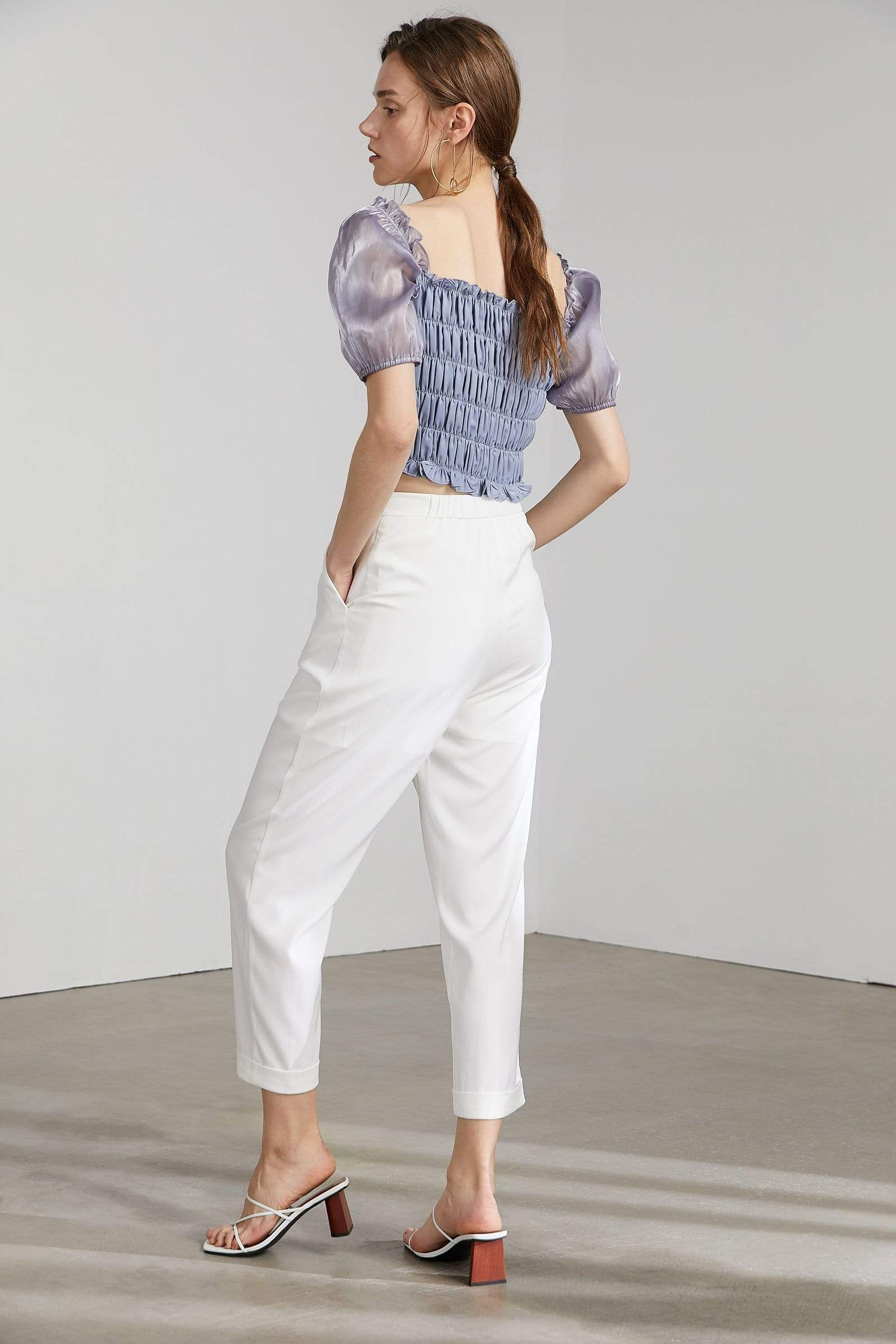 Stassy Bright White Trousers