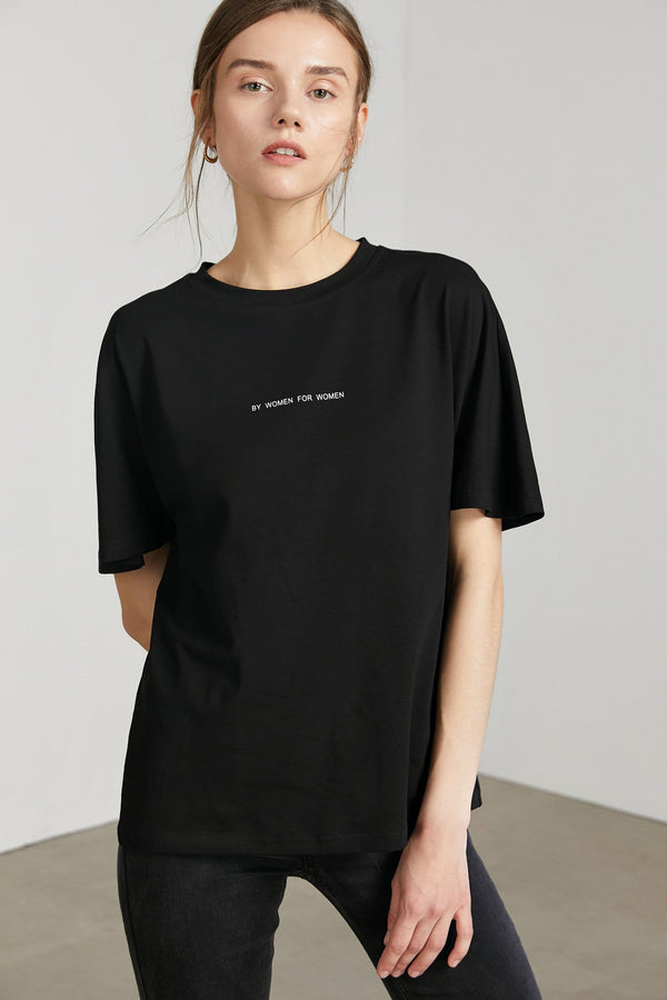 Oversize Boyfriend Tee in Black