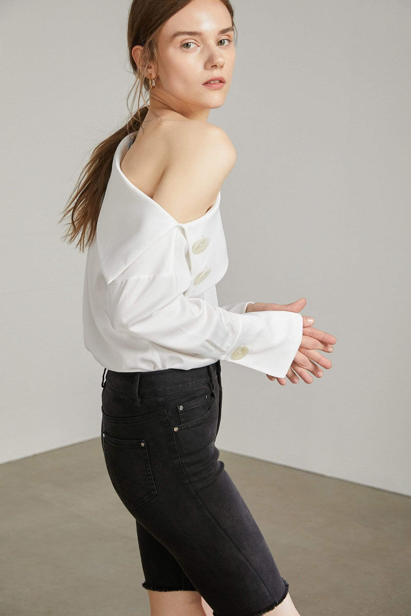 Lara White Off Shoulder Blouse