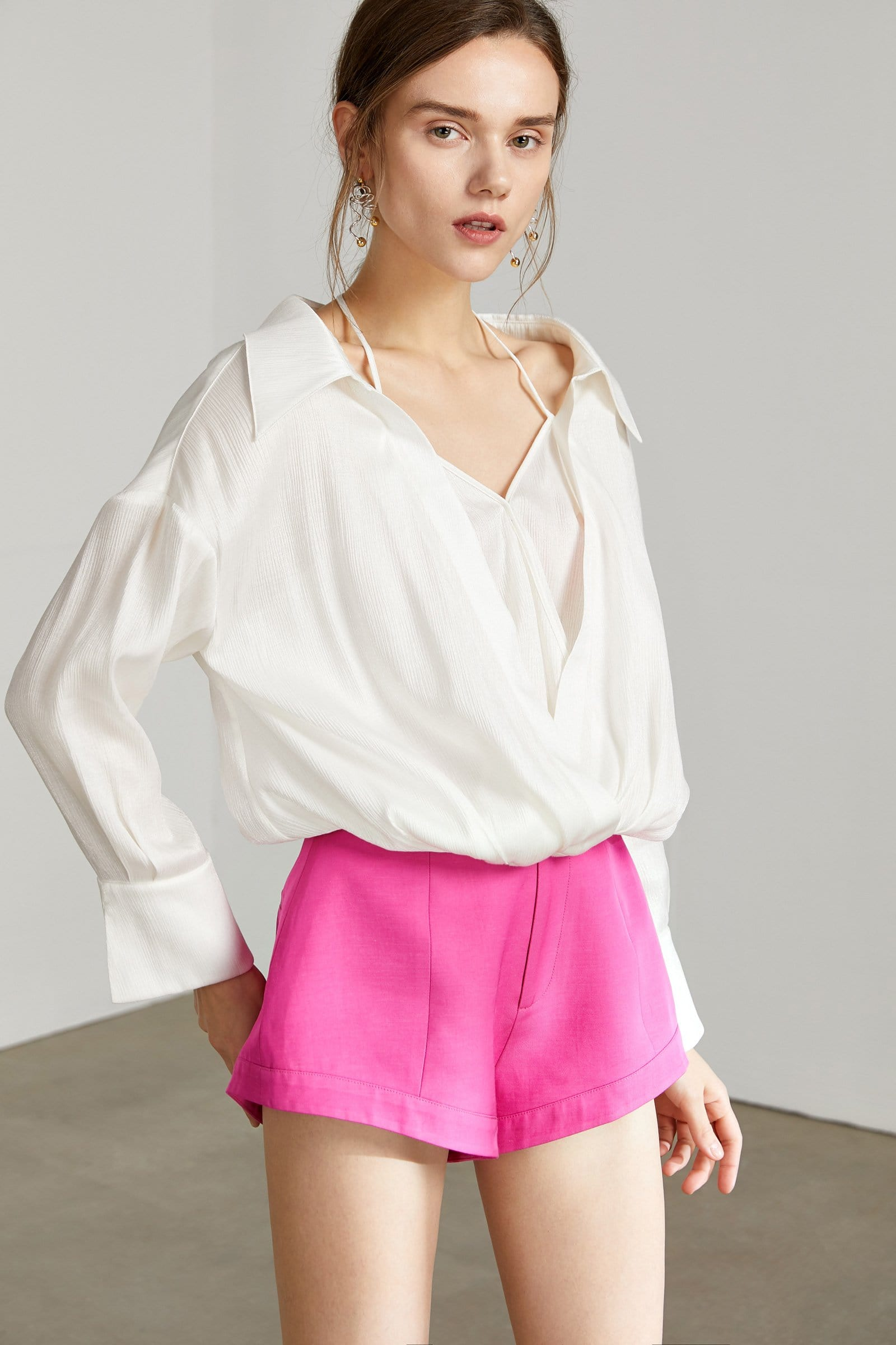 Iris White Layered Top