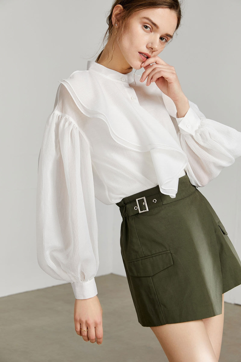 Chopin Sheer White Blouse