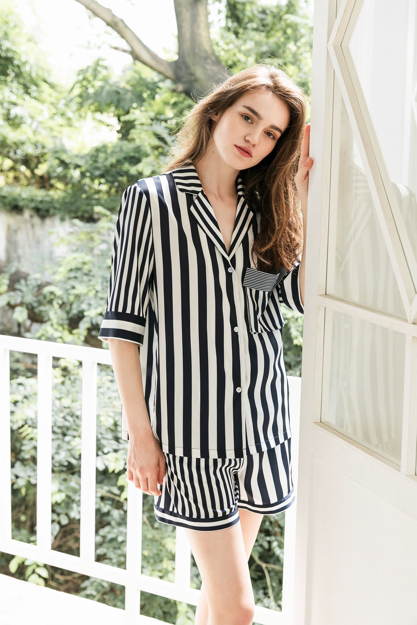 Lisette Navy Sleep Shirt