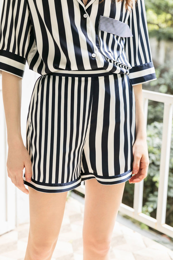 Lisette Navy Sleep Shorts