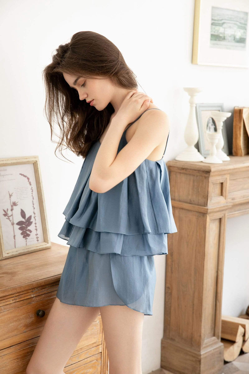 Nicolette Blue Sleep Set