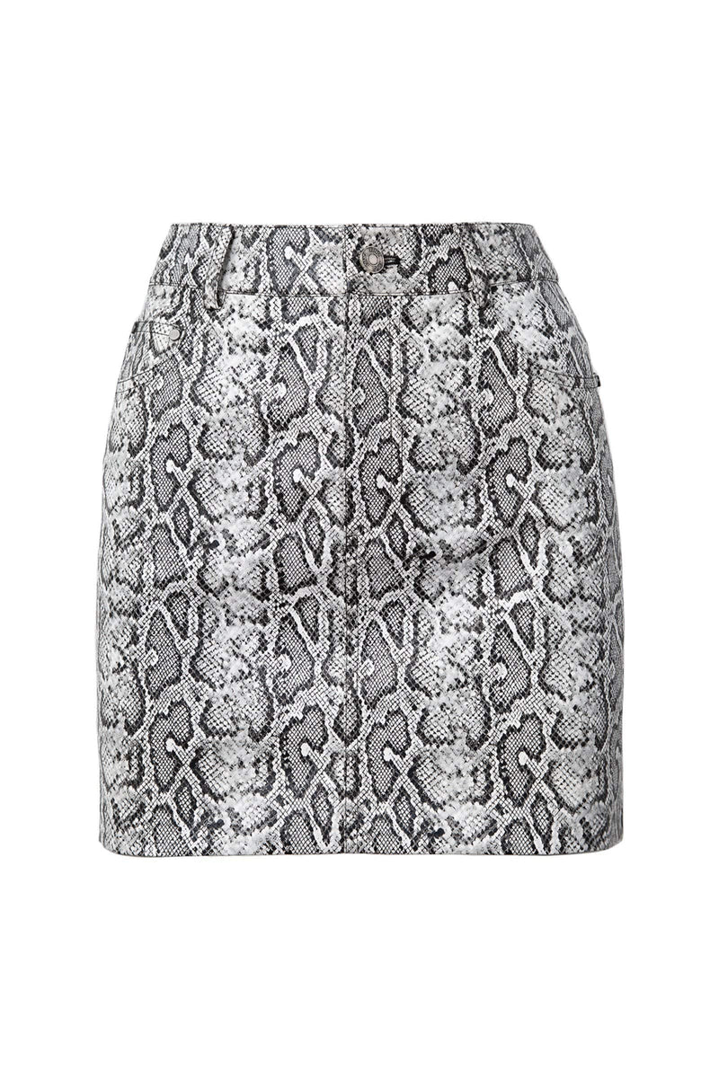Grey Snake Pattern Short Skirt by J.ING