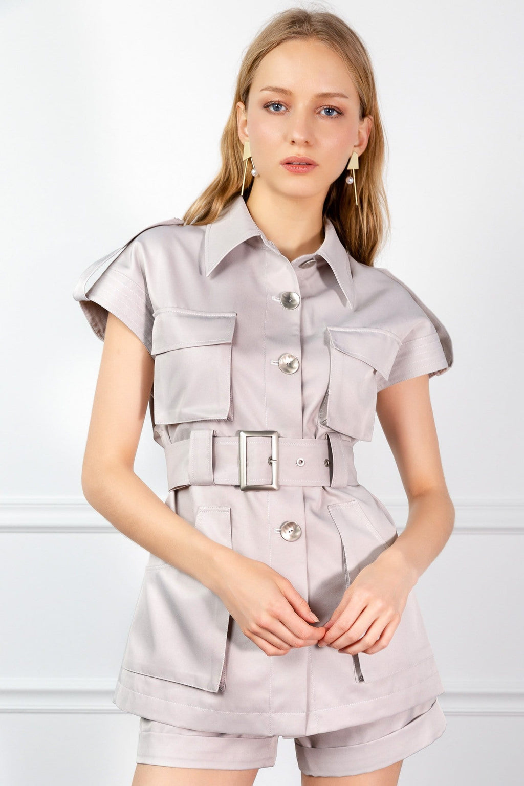 girl in utility shirt by j.ing womens fashion