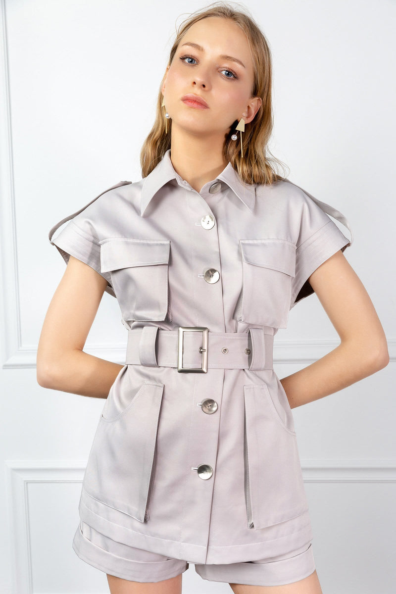 fashionable women's utility shirt by j.ing