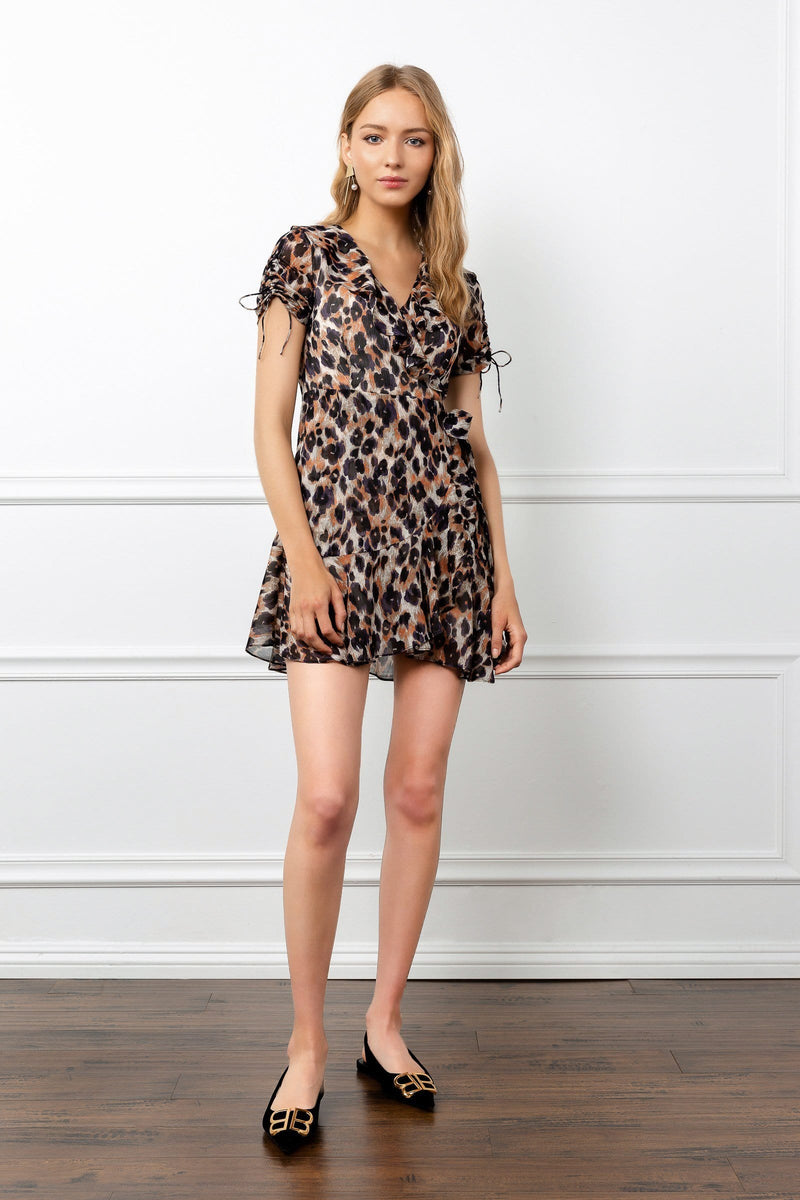 Leopard Print Short Dress by J.ING