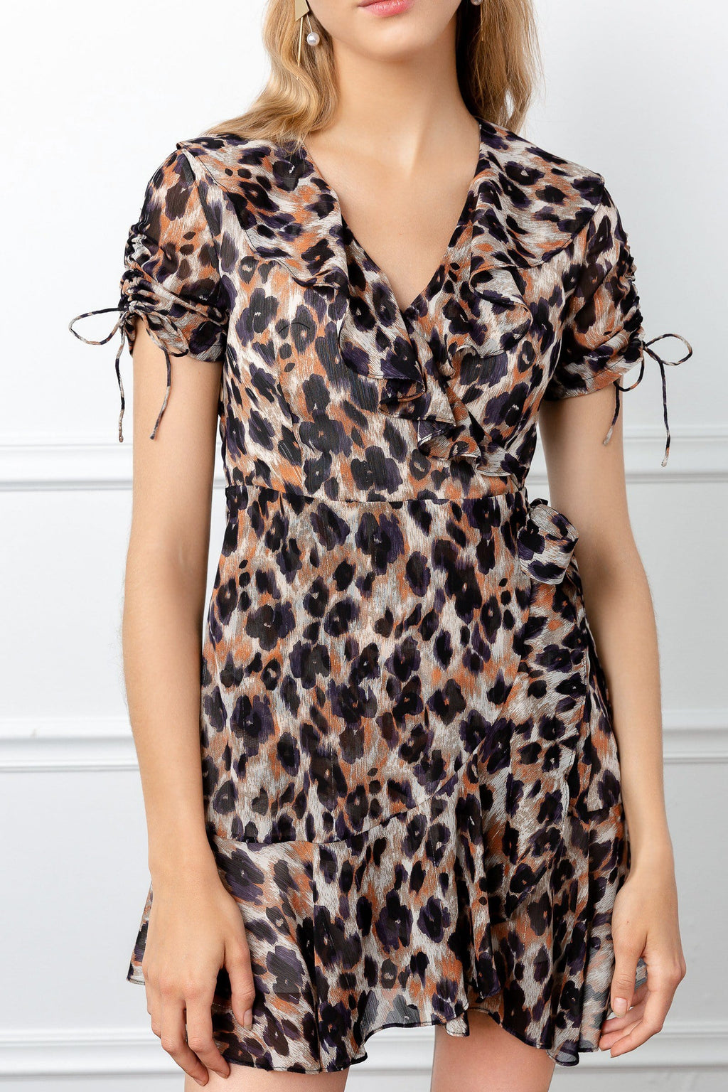 Leopard Dress wildcat by J.ING short sleeves