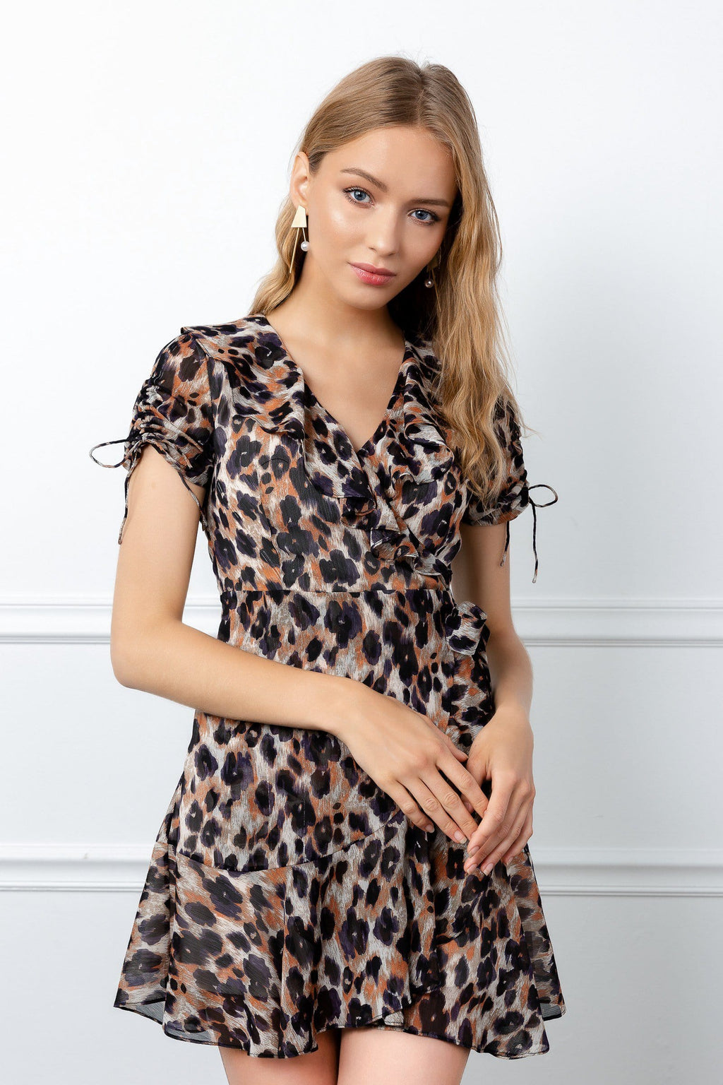 Leopard Printed Dress by J.ING womens fashion
